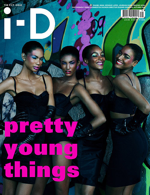 i-d pretty young things black models cover