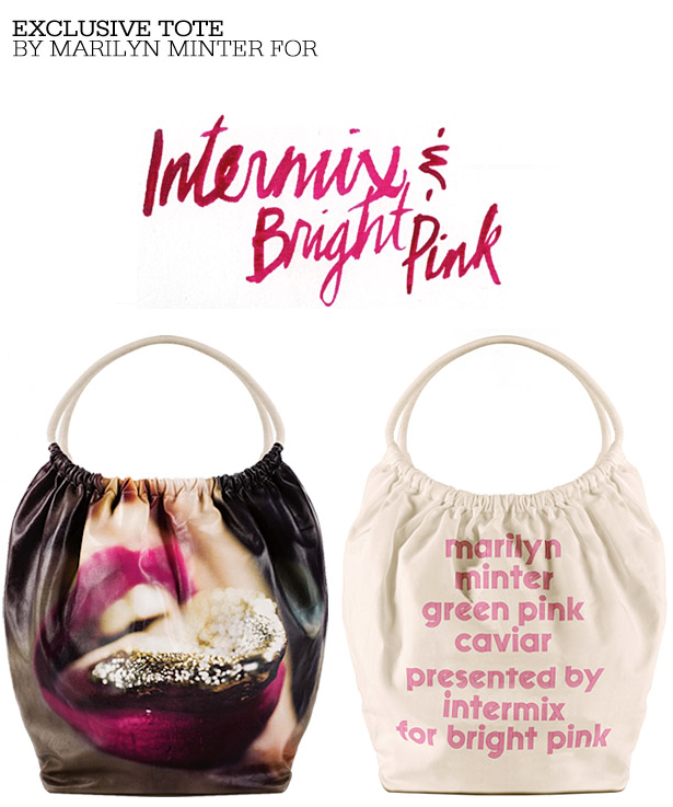 marilyn minter for intermix bright pink
